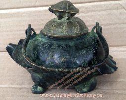 langngheducdong.vn - ấm giả cổ, ấm trà mẫu rùa đồng, ấm bằng đồng