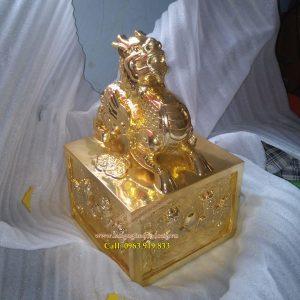langngheducdong.vn - Ấn đồng, Ấn kỳ lân mạ vàng, ấn bằng đồng, giá bán ấn đồng
