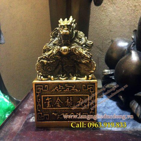 langngheducdong.vn - Ấn rồng, Ấn rồng phong thủy, Ấn Rồng bằng Đồng