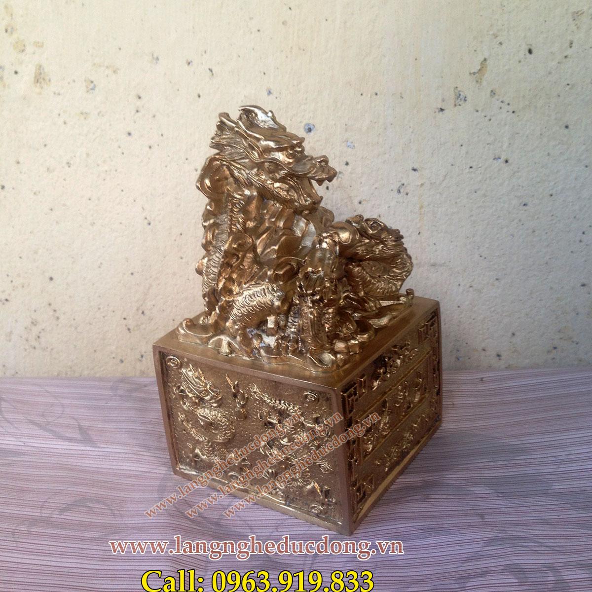 langngheducdong.vn - Ấn Cửu Long, Ấn rồng đồng , giúp thăng quan tiến chức
