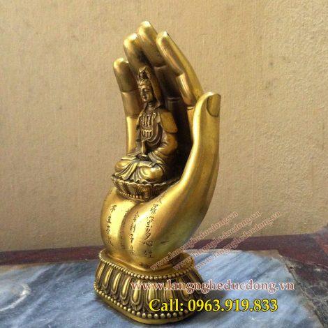 langngheducdong.vn - Bàn tay Phật Quan Âm Bồ Tát, bàn tay phật bằng đồng