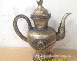 langngheducdong.vn - Bình trà bằng đồng, bình tra cao 25cm, giá bán bình trà bằng đồng