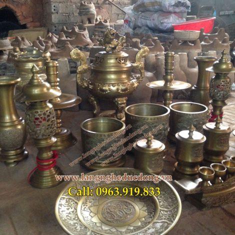 langngheducdong.vn - Bộ đồ thờ cúng đầy đủ, Bộ đồ thờ trang trí bàn thờ phù hợp bàn thờ 176 đến 197cm