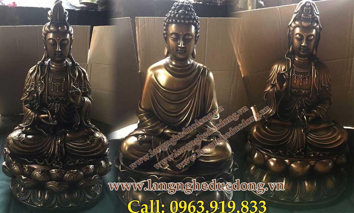 langngheducdong.vn - Tượng Tam thánh, Tam thế Phật, tượng phật