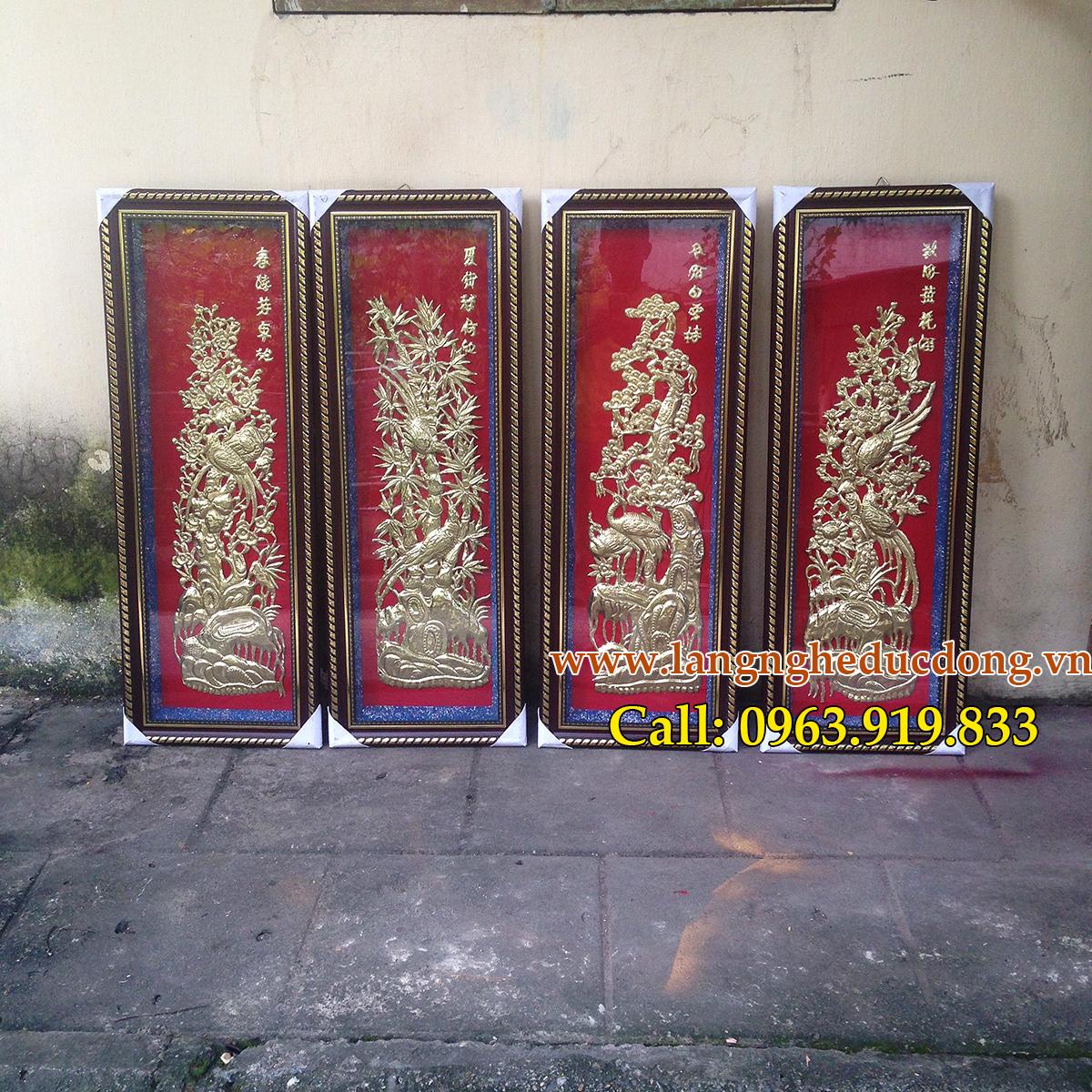 langngheducdong.vn - Tùng Cúc Trúc Mai, tranh bốn mùa Xuân Hạ Thu Đông