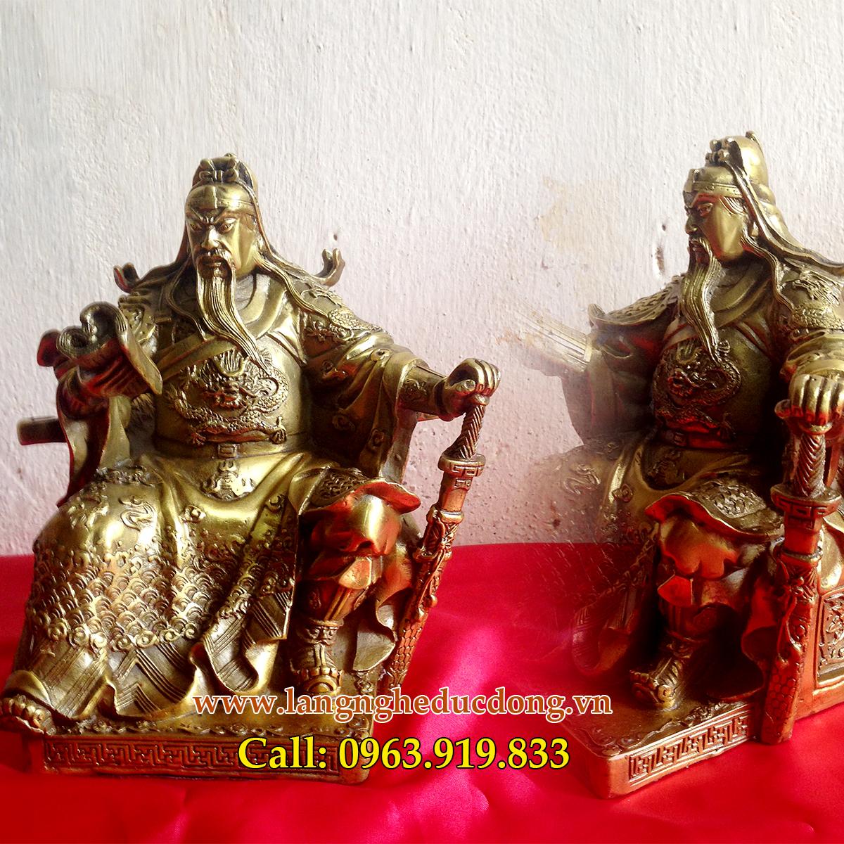 langngheducdong.vn - Bộ tượng tam thánh 18cm, tượng Quan Vân Trường