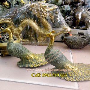langngheducdong.vn - công đồng giả cổ, đôi chim công, chim công mẫu dài 27cm