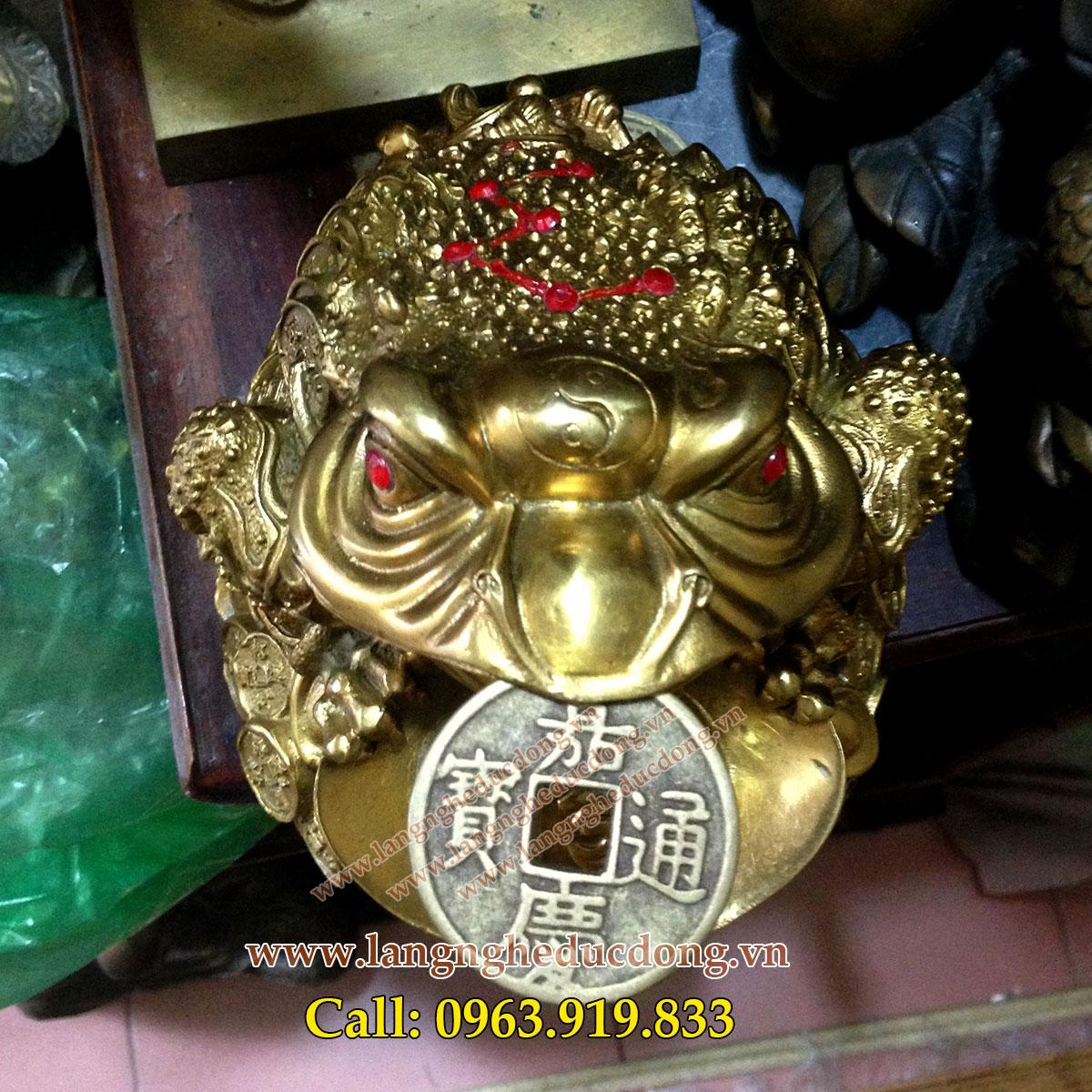 langngheducdong.vn - Cóc ngồi tiền, cóc 3 chân cao 15cm