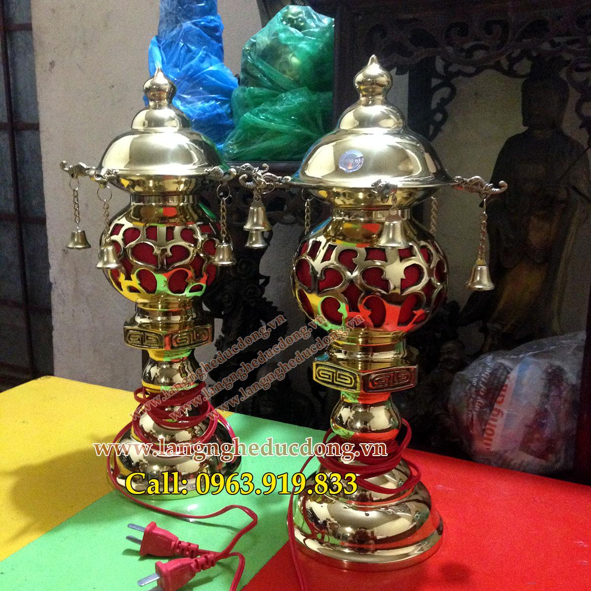 langngheducdong.vn - đèn thờ cao 38cm, đèn thờ cúng