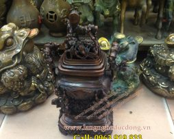 langngheducdong.vn - Đỉnh thờ thân trúc,đỉnh trúc đồng giả cổ 22cm