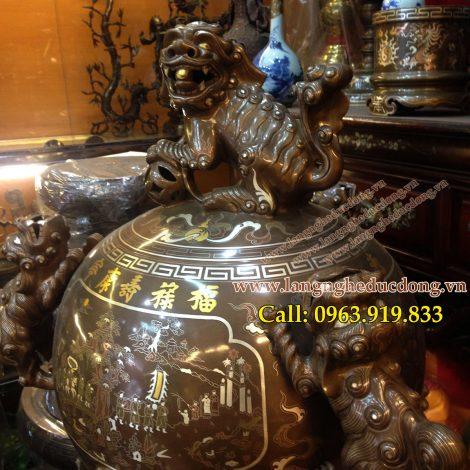 langngheducdong.vn - đỉnh cầu khảm ngũ sắc 11 chữ vàng
