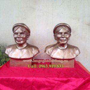 langngheducdong.vn - tượng chân dung, nhận đúc tượng chân dung theo yêu cầu, đúc tượng bán thân bằng đồng đỏ