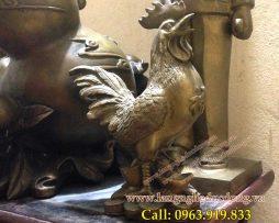 langngheducdong.vn - gà trống phong thủy, gà chữ phúc cao 18cm