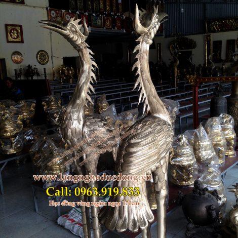 langngheducdong.vn - Hạc đồng thờ cúng, hạc thờ cao 170cm