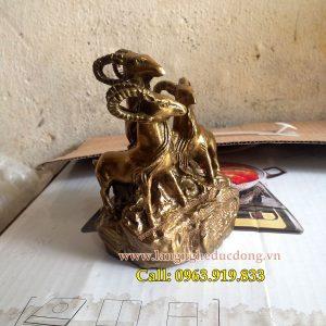 langngheducdong.vn - tượng dê đồng, dê tam dương, tượng phong thủy bằng đồng