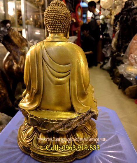 langngheducdong.vn - ượng phật adida cao 25cm tượng bằng đồng vàng