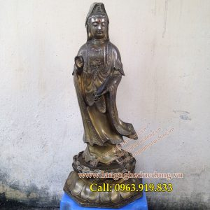 langngheducdong.vn - tượng quan thế âm cao 45cm, tượng quan âm đứng