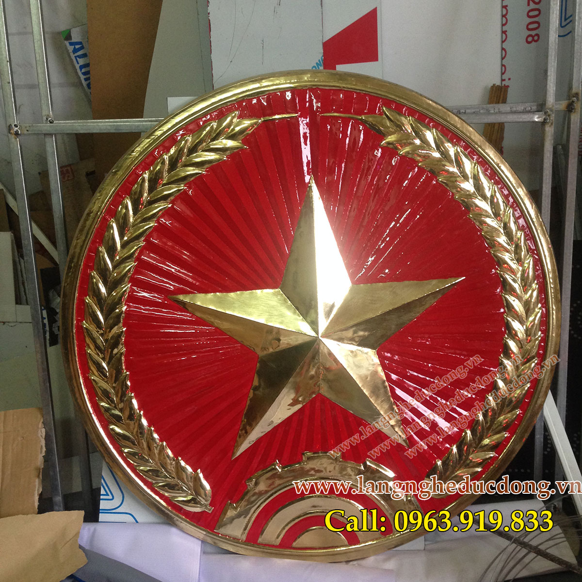 langngheducdong.vn - huy hiệu quân đội, huy hiệu D=85cm