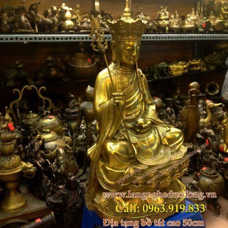 langngheducdong.vn - Tượng địa tạng vương bồ tát ngồi cao 50cm