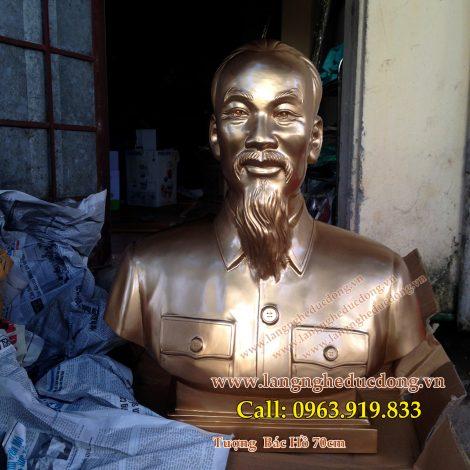 langngheducdong.vn - ượng đồng Bác Hồ, mẫu chuẩn quốc gia, cao 70cm
