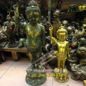 langngheducdong.vn - Thích ca mâu ni Phật Đản sanh chỉ thiên chỉ địa cao 25cm