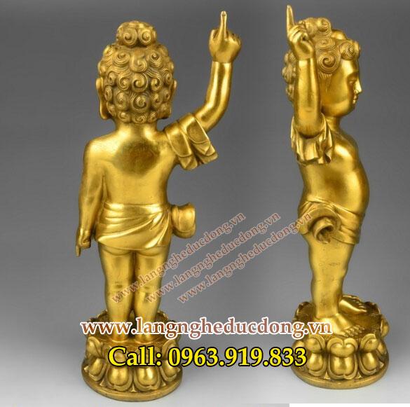 langngheducdong.vn - Phật Đản sanh chỉ thiên chỉ địa, tượng thích ca đản sinh cao 55cm