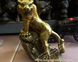 langngheducdong.vn - Tượng hổ đồng phong thủy cao 16cm, hổ bằng đồng