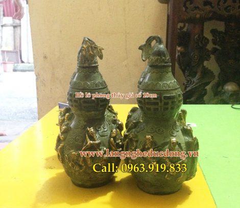 langngheducdong.vn-Hồ lô đồng phong thủy, hồ lô bát tiên đồng 18cm