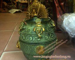 langngheducdong.vn - hũ tiền thiềm thừ bằng đồng, vật phẩm phong thủy chiêu tài
