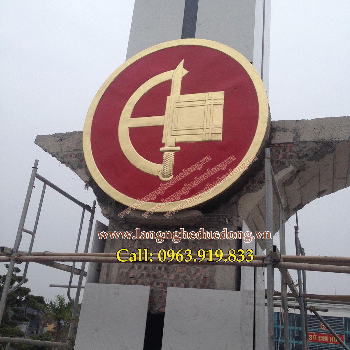langngheducdong.vn - Huy hiệu quân đội, quân hiệu D=220cm, gò huy hiệu Quân đội, huy hiệu quân đội thúc nổi