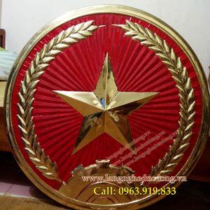 langngheducdong.vn - huy hiệu quân đội nhân dân việt nam bằng đồng đường kính 80cm