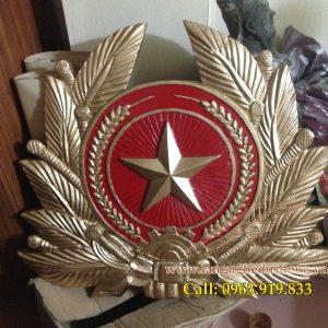 langngheducdong.vn - huy hiệu quân đội nhân dân việt nam bằng nhựa tổng hợp composite KT 70x80cm