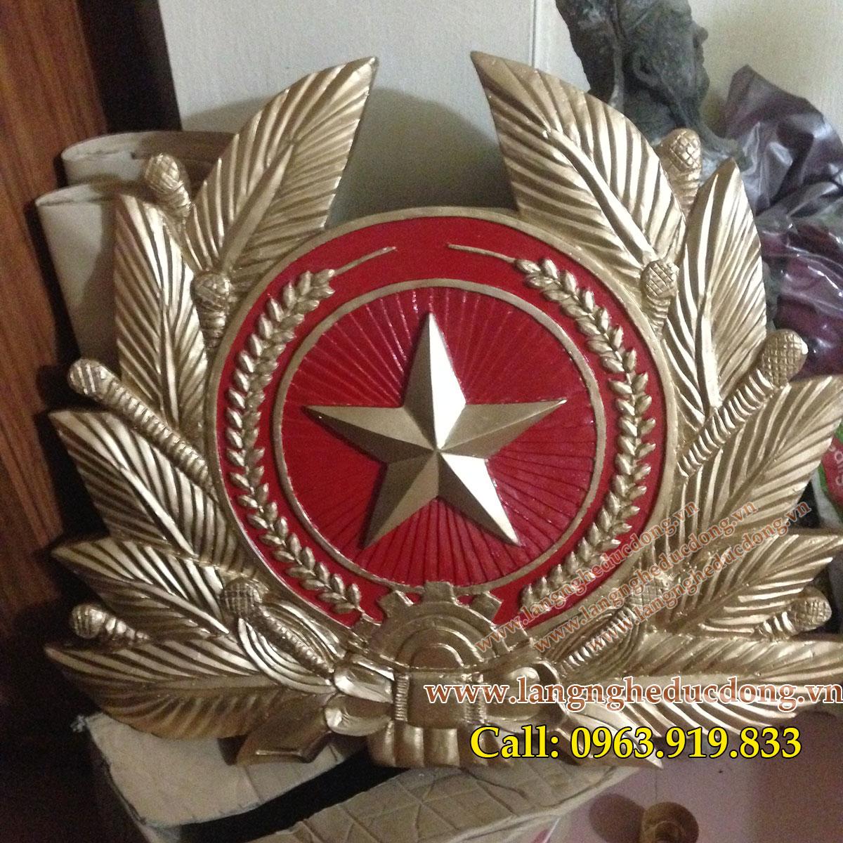 phù điêu huy hiệu quân đội nhân dân việt nam bằng nhựa tổng hợp composite
