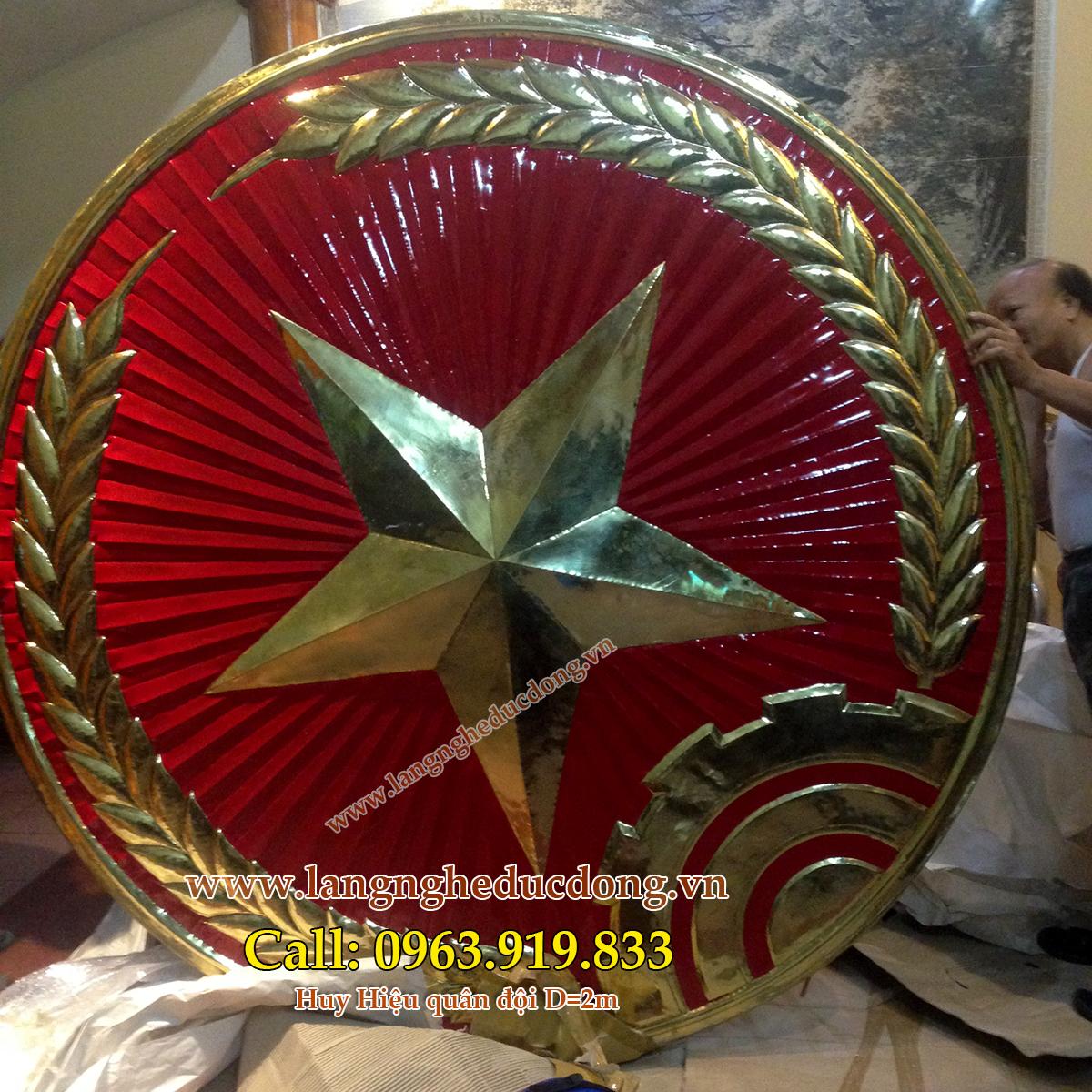 langngheducdong.vn - huy hiệu quân đội, huy hiệu D=2m