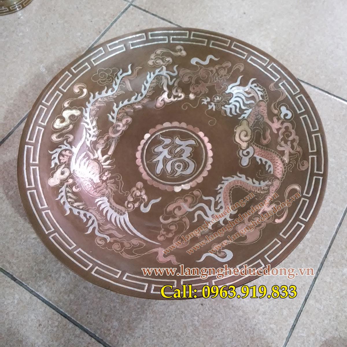 langngheducdong.vn - Mâm bồng, ĐK 28cm, mâm ngũ quả, mâm bồng Long Phượng