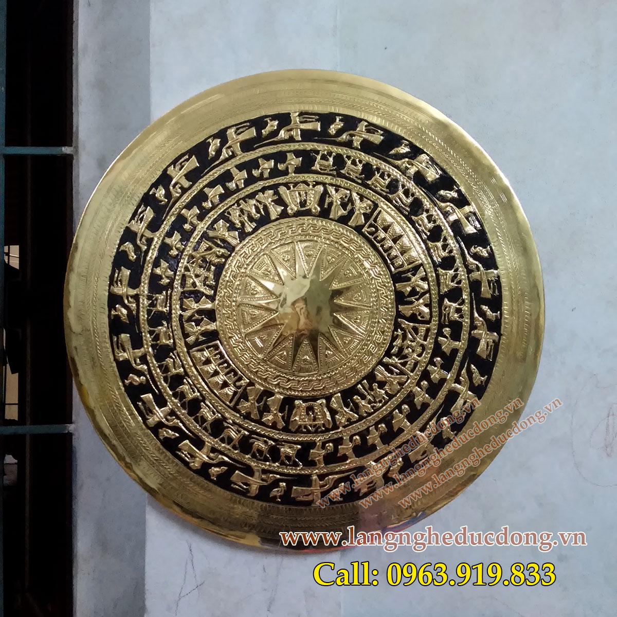 langnghedudong.vn - mặt trống đồng gò nổi, mặt trống đồng DK 60cm