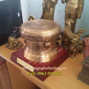 langngheducdong.vn - Trống đông đúc mô hình đk 20cm, quà tặng bằng đồng