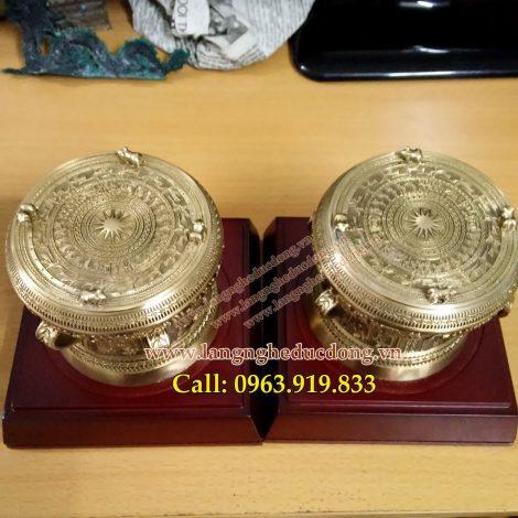 langngheducdong.vn - rống đồng vàng đk 10cm, quà tặng trống đồng