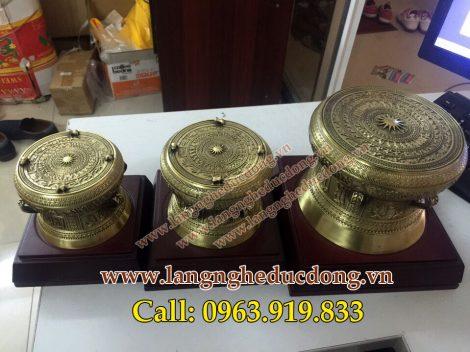 langngheducdong.vn - quà tặng trống đồng, trống đồng vàng đúc công nghệ, mô hình trống đồng