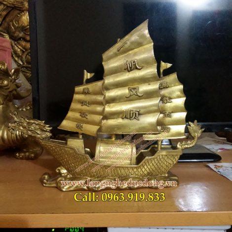 langngheducdong.vn - thuyền buồm, thuyền chở vàng, thuận buồm xuôi gió, đồ đồng phong thủy