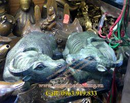 langngheducdong.vn - trâu nằm bằng đồng giả cổ, trâu đồng phong thủy