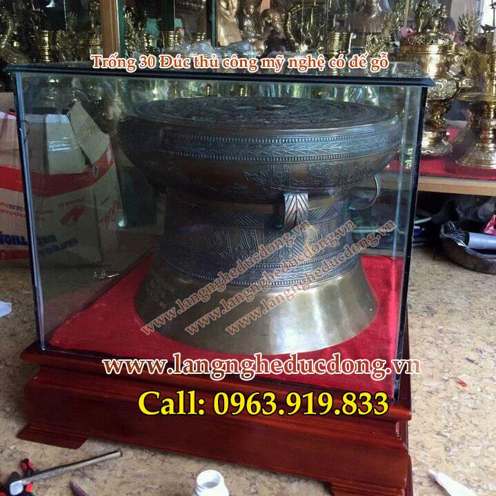 langngheducdong.vn - Trống đồng quà tặng ĐK 30cm, mô hình trống Đông Sơn