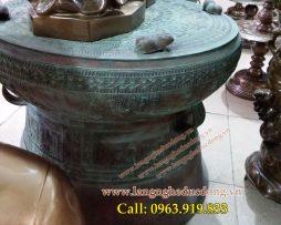 langngheducdong.vn - rống đồng đúc đường kính 60cm, trống đồng màu xanh giả cổ