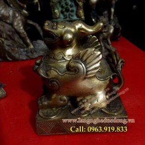 langngheducdong.vn - Tỳ hưu đồng, Cao 9cm, Tỳ hưu phong thủy