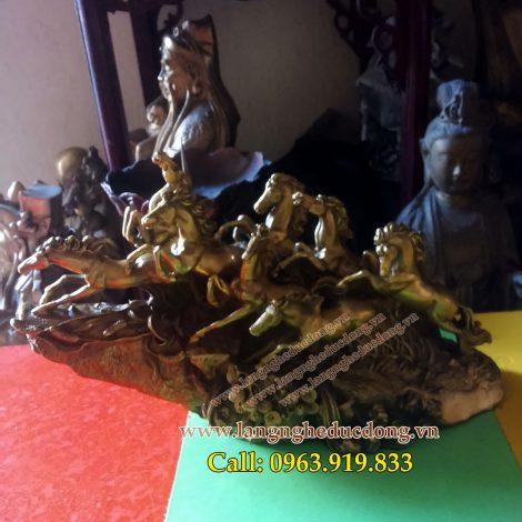 langngheducdong.vn - Tượng bát mã , dài 30cm, Tượng mã đáo thành công