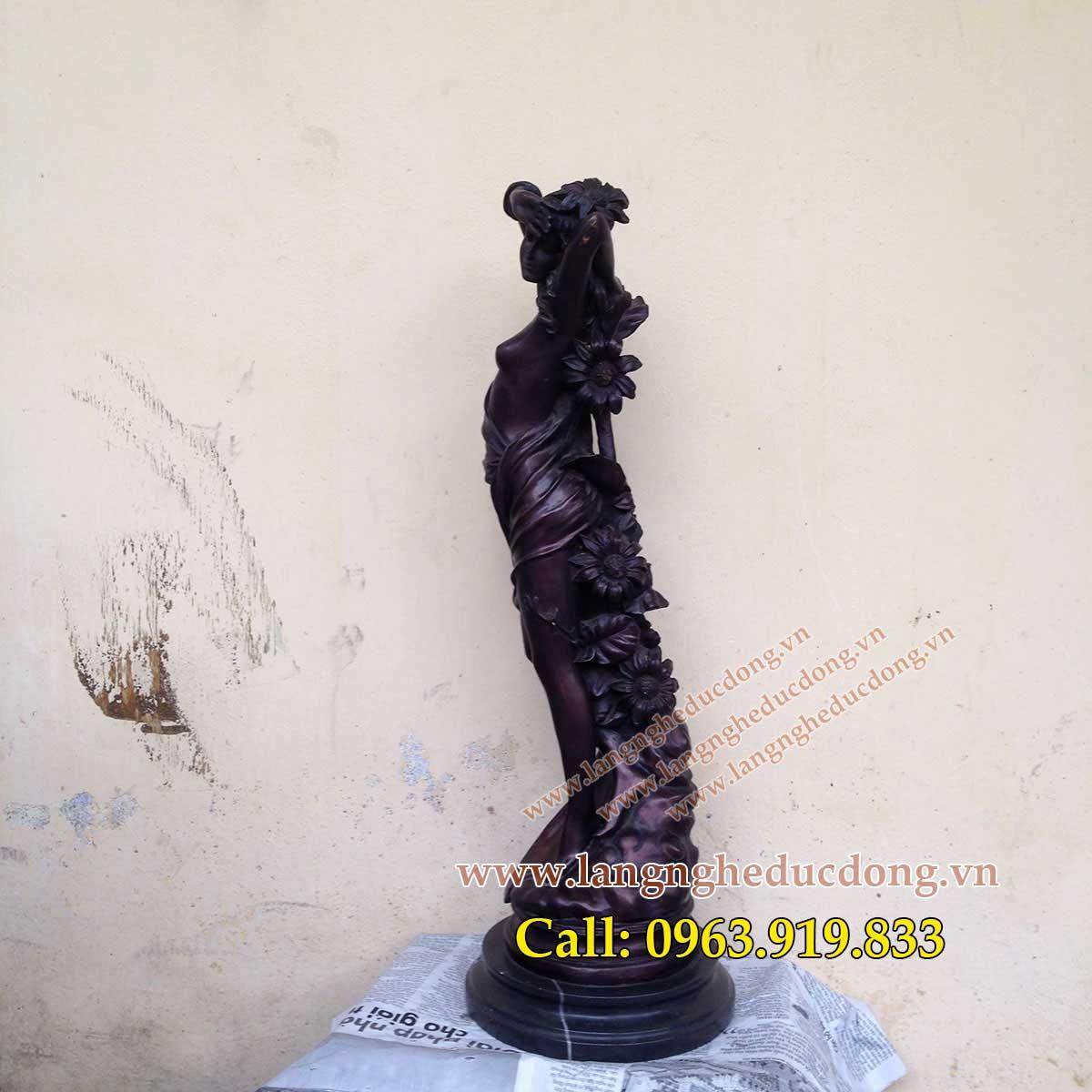 langngheducdong.vn - Tượng trang trí, tượng đồng trang trí, mẫu tượng trang trí cao 60cm