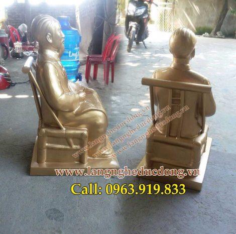 langngheducdong.vn - tượng Bác Hồ ngồi ghế mây, tượng bác hồ cao 45cm