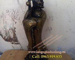 langngheducdong.vn - Tượng Đạt ma sư tổ cao 25cm,tượng thờ bằng đồng