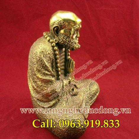 langngheducdong.vn - Tượng Đạt ma sư tổ cao 18cm ngồi thiền