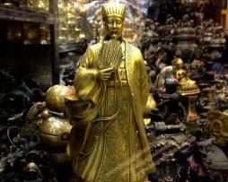 langngheducdong.vn - Khổng Minh Gia Cát Lượng, tượng đồng phong thủy 25cm